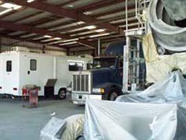 semi truck repair shop